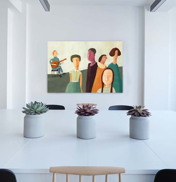 Wall art background – blank wall