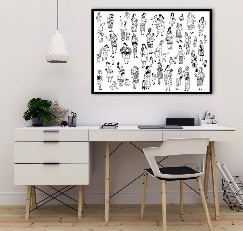 Art mockup – desk – workspace
